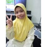 Tudung Sekolah Kuning Awning Lembut 518-01