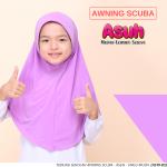 Tudung Sekolah ASUH - Awning Scuba (Ungu Muda) A519-03