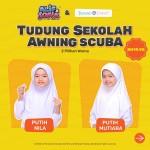 Tudung Sekolah Awning Scuba (Putih Mutiara) AS519-11M