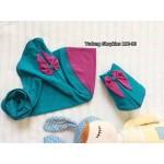 Tudung Shopkins (Biru Turqoise + Purple) 112-10