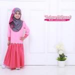 Instant Shawl Kupu-kupu (Kelabu & Pink) 127-06