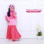 Instant Shawl Kupu-kupu (Pink & Biru Navy) 127-09