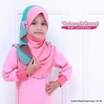 Instant Shawl Kupu-kupu (Pink & Turquoise) 127-08