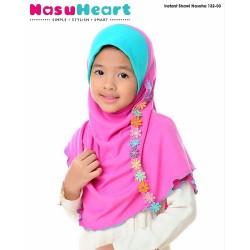 Instant Shawl Nasuha (Terqoise+Pink) 132-03