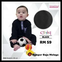 Romper Baju Melayu (Black) 170-12