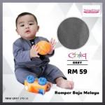 Romper Baju Melayu (Grey) 170-11