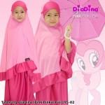 Telekung Diadina (Pink Pinkie Pie) 195-02