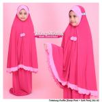 Telekung Ruffle [Deep Pink + Soft Pink] 201-02