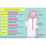 Tudung Sekolah Awning Scuba (Pink) 519-08