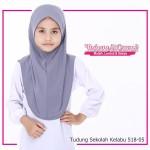 Factory Reject | Tudung Sekolah Rejek Kilang Grade AAA  Kelabu R518-05