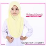 Factory Reject | Tudung Sekolah Rejek Kilang Grade AAA Kuning R518-01