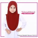 Factory Reject | Tudung Sekolah Rejek Kilang Grade AAA  Maroon R518-10