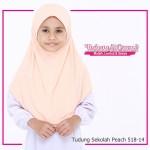 Factory Reject   Tudung Sekolah Peach  R518-14