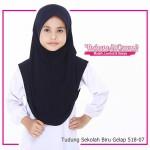 Factory Reject   Tudung Sekolah Rejek Kilang Grade AAA Biru Gelap R518-07