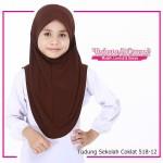 Factory Reject | Tudung Sekolah Rejek Kilang Grade AAA  Coklat R518-12