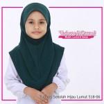 Factory Reject | Tudung Sekolah Rejek Kilang Grade AAA Hijau Lumut R518-06