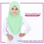 Factory Reject   Tudung Sekolah Hijau Muda 518-09