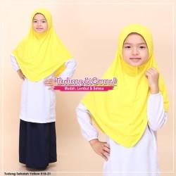 Factory Reject | Tudung Sekolah Kuning Royal Awning Lembut R518-21