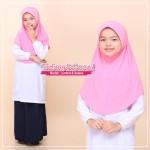 Tudung Sekolah Pink Awning Lembut 518-08