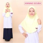 Tudung Sekolah Awning Scuba (Kuning) 519-01
