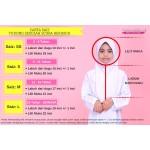 Tudung Sekolah Awning Scuba Berdagu (Putih Mutiara)  523-11M
