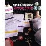 Tudung Jururawat Awning Scuba (Line Oren)  522-03